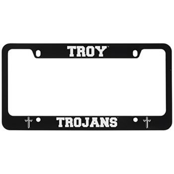 Troy University-Metal License Plate Frame-Black