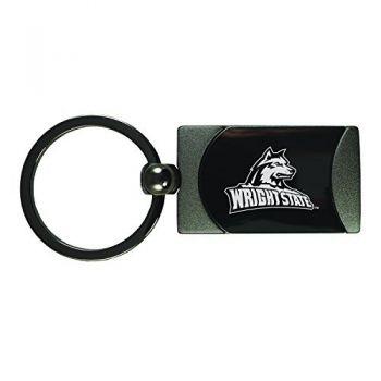 Wright State university -Two-Toned Gun Metal Key Tag-Gunmetal