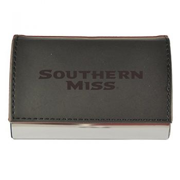 Velour Business Cardholder-University of Southern Mississippi-Black