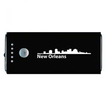 New Orleans, Louisiana-Portable Cell Phone 5200 mAh Power Bank Charger-Black