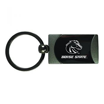 Boise State University -Two-Toned gunmetal Key Tag-Gunmetal