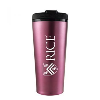 Rice University -16 oz. Travel Mug Tumbler-Pink