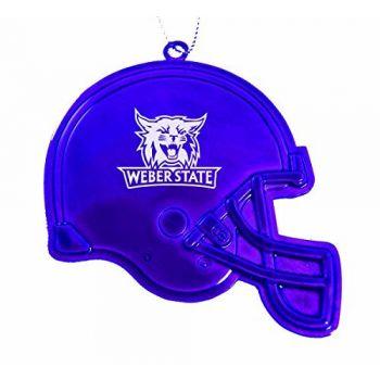 Weber State University - Christmas Holiday Football Helmet Ornament - Purple
