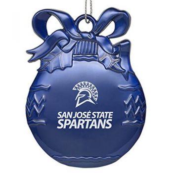 San Jose State University - Pewter Christmas Tree Ornament - Blue