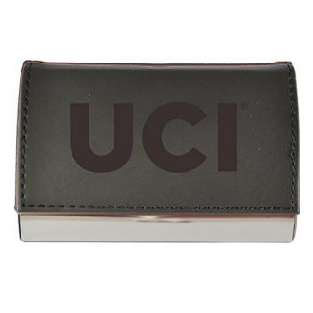Velour Business Cardholder-University of California, Irvine-Black