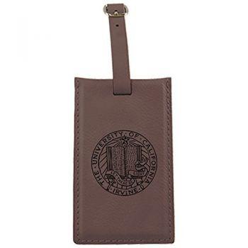 University of California, Irvine-Leatherette Luggage Tag-Brown