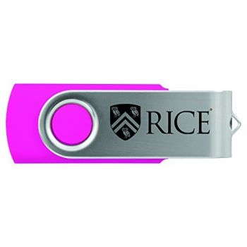 Rice University -8GB 2.0 USB Flash Drive-Pink