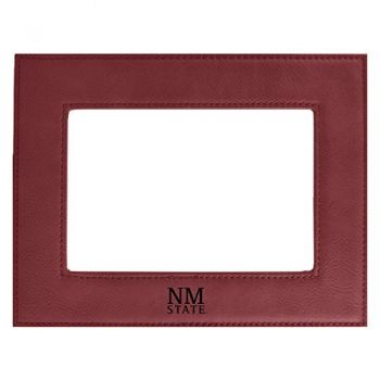 New Mexico State-Velour Picture Frame 4x6-Burgundy
