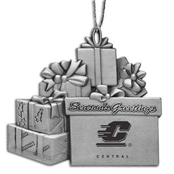 Central Michigan University - Pewter Gift Package Ornament