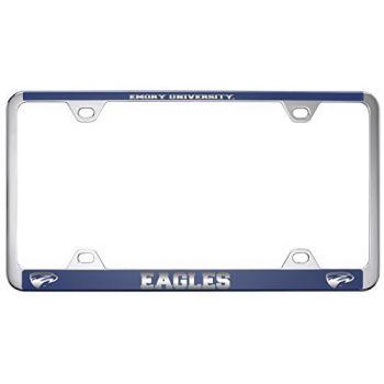 Emory University-Metal License Plate Frame-Blue