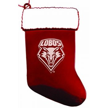 University of New Mexico - Christmas Holiday Stocking Ornament - Red