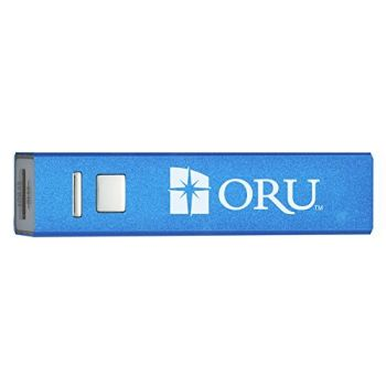 Oral Roberts University - Portable Cell Phone 2600 mAh Power Bank Charger - Blue