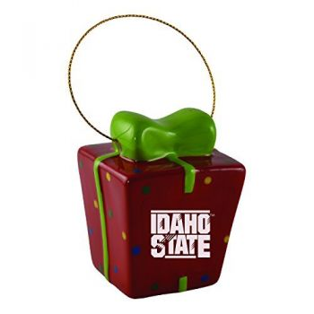 Idaho State University-3D Ceramic Gift Box Ornament