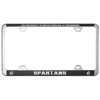 University of North Carolina at Greensboro-Metal License Plate Frame-Black
