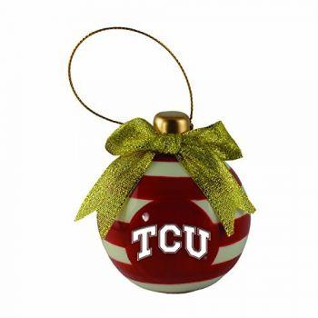 Texas Christian University -Christmas Bulb Ornament