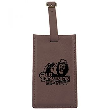 Old Dominion University -Leatherette Luggage Tag-Brown