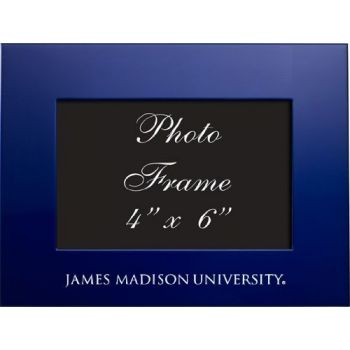 James Madison University - 4x6 Brushed Metal Picture Frame - Blue