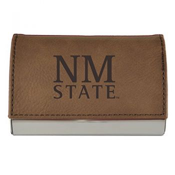 Velour Business Cardholder-New Mexico State-Brown