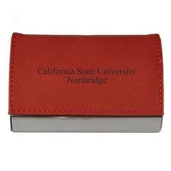 Velour Business Cardholder-California State University, Northridge-RED