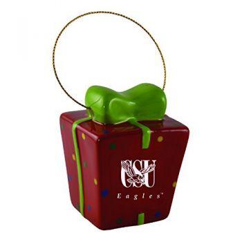 Coppin State University-3D Ceramic Gift Box Ornament