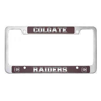 Colgate University -Metal License Plate Frame-Burgundy