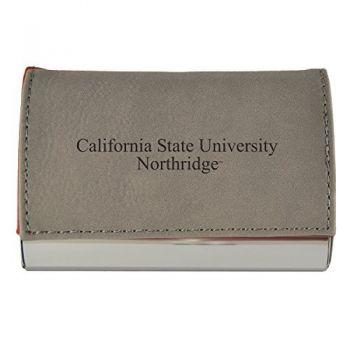 Velour Business Cardholder-California State University, Northridge-Grey