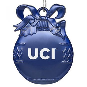 University of California - Irvine - Pewter Christmas Tree Ornament - Blue
