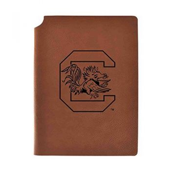 University of South Carolina Velour Journal with Pen Holder|Carbon Etched|Officially Licensed Collegiate Journal|