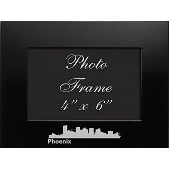 Phoenix, Arizona-4x6 Brushed Metal Picture Frame-Black