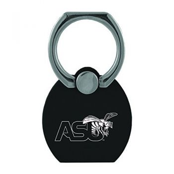 Alabama State University|Multi-Functional Phone Stand Tech Ring|Black
