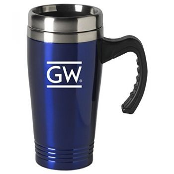 George Washington University-16 oz. Stainless Steel Mug-Blue