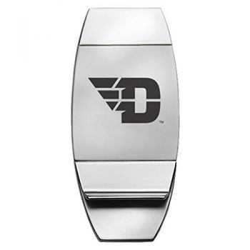 University of Dayton - Two-Toned Money Clip - Silver