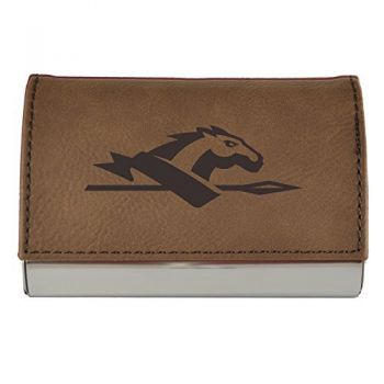 Velour Business Cardholder-Longwood University-Brown