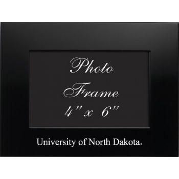 University of North Dakota - 4x6 Brushed Metal Picture Frame - Black
