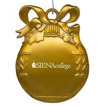 Siena College - Pewter Christmas Tree Ornament - Gold
