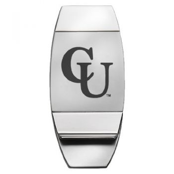 Campbell University - Two-Toned Money Clip - Silver