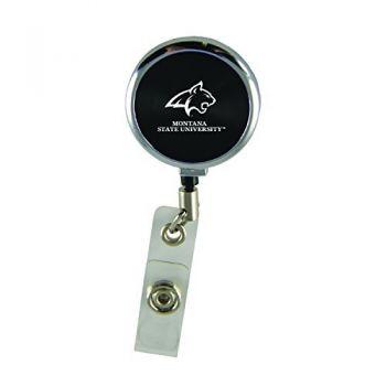 Montana State University-Retractable Badge Reel-Black