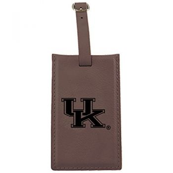 University of Kentucky -Leatherette Luggage Tag-Brown