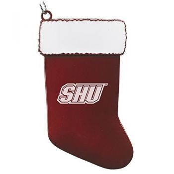 Sacred Heart University - Chirstmas Holiday Stocking Ornament - Red