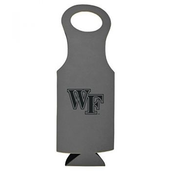 Wake Forest University-Velour Wine Tote-Grey