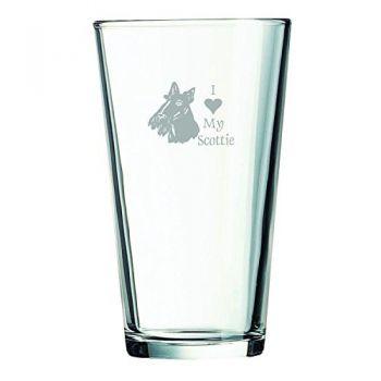 16 oz Pint Glass   - I Love My Scottish Terrier