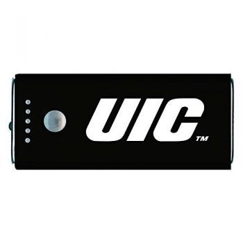 University of Illinois at Chicago-Portable Cell Phone 5200 mAh Power Bank Charger -Black