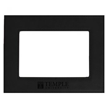 Temple University-Velour Picture Frame 4x6-Black