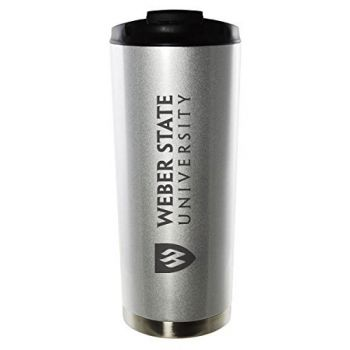 Weber State University-16oz. Stainless Steel Vacuum Insulated Travel Mug Tumbler-Silver