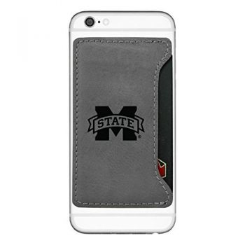 Mississippi State University-Cell Phone Card Holder-Grey