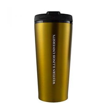 Western Illinois University -16 oz. Travel Mug Tumbler-Gold