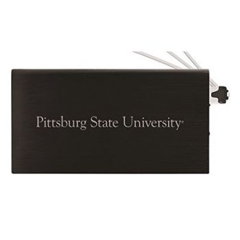 8000 mAh Portable Cell Phone Charger-Pittsburg State University -Black