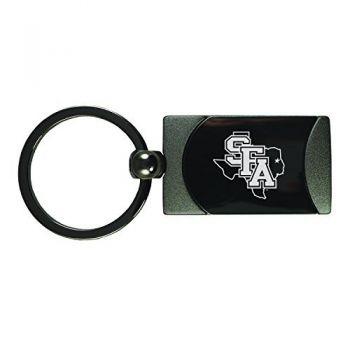 Stephen F. Austin State University-Two-Toned Gun Metal Key Tag-Gunmetal