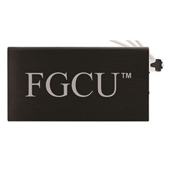 8000 mAh Portable Cell Phone Charger-Florida Gulf Coast University -Black