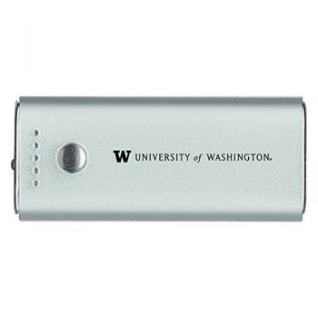 University of Washington-Portable Cell Phone 5200 mAh Power Bank Charger -Silver